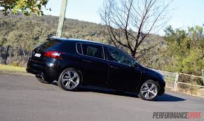 peugeot 308 2015 2015 peugeot 308 gt review video performancedrive
