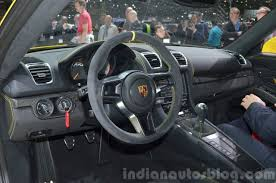 porsche cayman 2015 gt4 porsche cayman gt4 interior at the 2015 geneva motor show indian