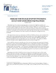 medicaid maintenance of effort requirement does not stop states