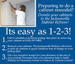 donate your gently used cabinets to the jacksonville habitat restore