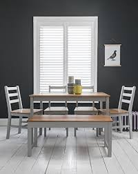 pine bench for kitchen table annika dining table and 4 chairs and bench in silk grey and natural pine