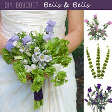 Diy Bridal Bouquet Diy Wedding Bouquet Canterbury Bells And Bells Of Ireland