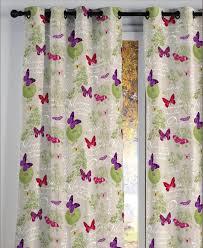 rideau style montagne rideau coloré avec motif papillon