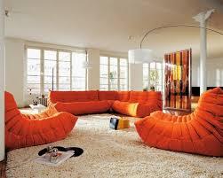 canapé ligne roset togo decoration fauteuils canapé ligne roset tissu orange togo canapé