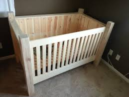 diy wood crib this is another option if doing all tree limbs logs