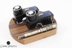 Pen Organizer For Desk Walnut Or Cherry Wood Fountain Pen Desk Organizer Pen Tray