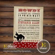 cowboy baby shower invitation western shower invitations
