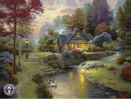kinkade signed and numbered limited edition canvas