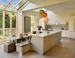 a kitchen island with built in seating gallery also islands