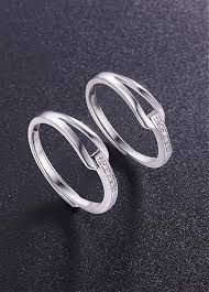 platinum sterling rings images Buy discount 925 sterling silver couple rings micro pave aaa jpg