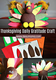 thanksgiving turkey gratitude craft for