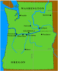 map of oregon and washington getreal index to weather forecasts