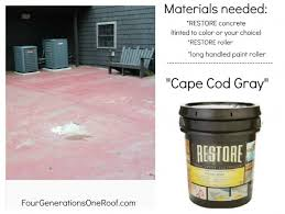 Diy Cement Patio by How To Repair A Cracked U0026 Old Cement Patio Before U0026 After Four