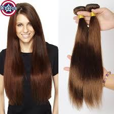 from dark brown to light brown hair unprocessed virgin brazilian hair straight light brown human hair