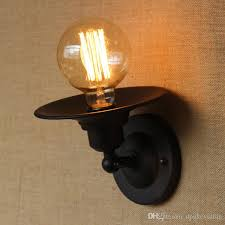 Edison Wall Sconce Vintage Black Wall Lamp Edison Bulb Fixture Without Shade Black