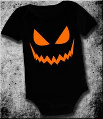 Infant Halloween Costumes Pumpkin Evil Jack Lantern Baby Infant Funny Piece Onesie Pumpkin