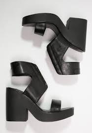 windsor smith women ankle cuff sandals pippie sandals black