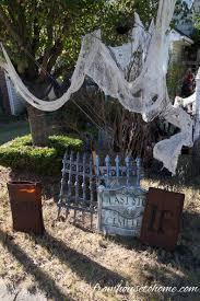 how to create a spooky halloween graveyard