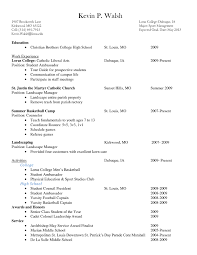 Student Resume For Summer Job by Resume For Summer Job College Student Free Resume Example And