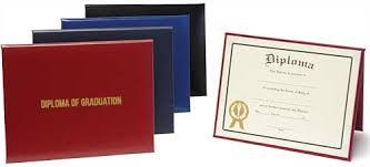 diploma cover cover plain or foil sted