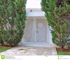 modern house entrance modern house entrance athens greece stock photo image 40672899