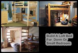 Dorm Room Loft Bed Plans Free by Build A Loft Bed For Dorm Or Small Bedroom The Homestead Survival