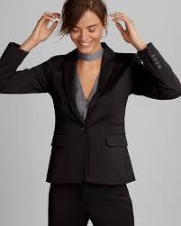 petite one button jacket express