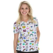 print scrub tops for nursing scrubs scrubin