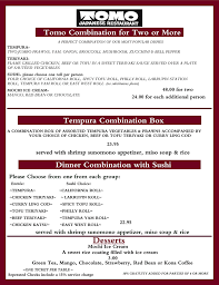 see our delicious menu tomo japanese restaurant menu serving