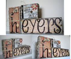 home decor wood word art family distressed blocks by designsbyth