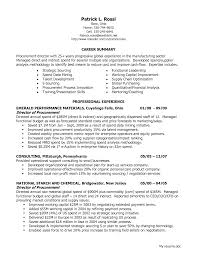 Resume Samples Non Profit by Resume Of Procurement Manager Resume For Your Job Application
