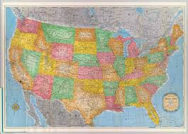 United States Highway Map by United States David Rumsey Historical Map Collection