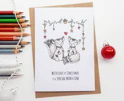 mum u0026 dad christmas card hand drawn squirrels card
