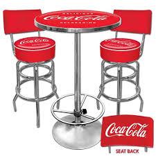 coca cola table and chairs retro coca cola furniture retrooutlet