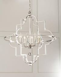 Ironies Chandelier Global Views Lighting Quatrefoil Silver Nickel Pendant