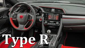 honda civic type r 2018 2018 honda civic type r interior youtube