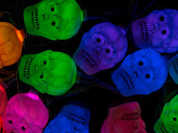10 count color changing antique cracker skull halloween string
