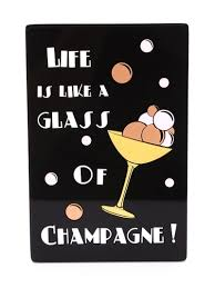 champagne bottle cartoon yazbukey champagne bottle clutch in black lyst