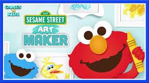 elmo painting sesame maker elmo cookie coloring painting