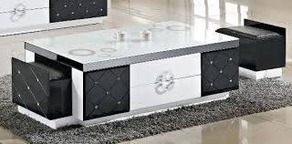 nice white modern coffee table on modern white square floating