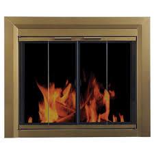 pleasant hearth carrington medium glass fireplace doors ct 3221