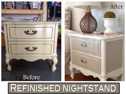 two it yourself refinished nightstand in diy chalk paint before