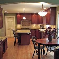 Kitchen Design Cherry Cabinets by Kitchen With Cherry Cabinets Granite Counter Tops And Red Oak