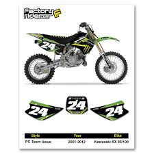 kx 85 graphics decals emblems ebay