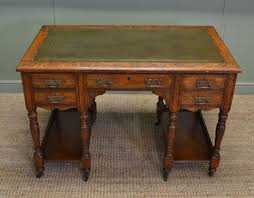 Small Oak Writing Desk by Characterful Small Victorian Oak Antique Arts And Crafts Desk