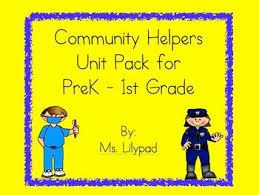 community helpers unit for prek kindergarten or first grade