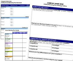 free annual marketing plan templates and resources small