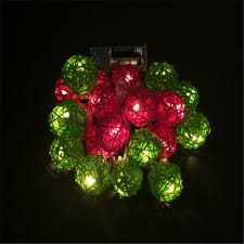 big rattan ball 4cm led string christmas light chain outdoor