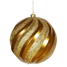 Glitter Christmas Ball Ornaments by 6