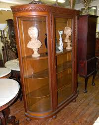 Curio Cabinets Ebay Top Antique China Cabinet Value On Refinish An Antique Two Oak